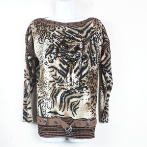 3/$10   3R Streetwear Tiger Print With Cat Logo